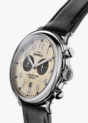 Shinola  Runwell Chrono 47mm Black/Cream