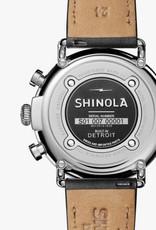 Shinola   Runwell Chrono 47mm Black/Cream