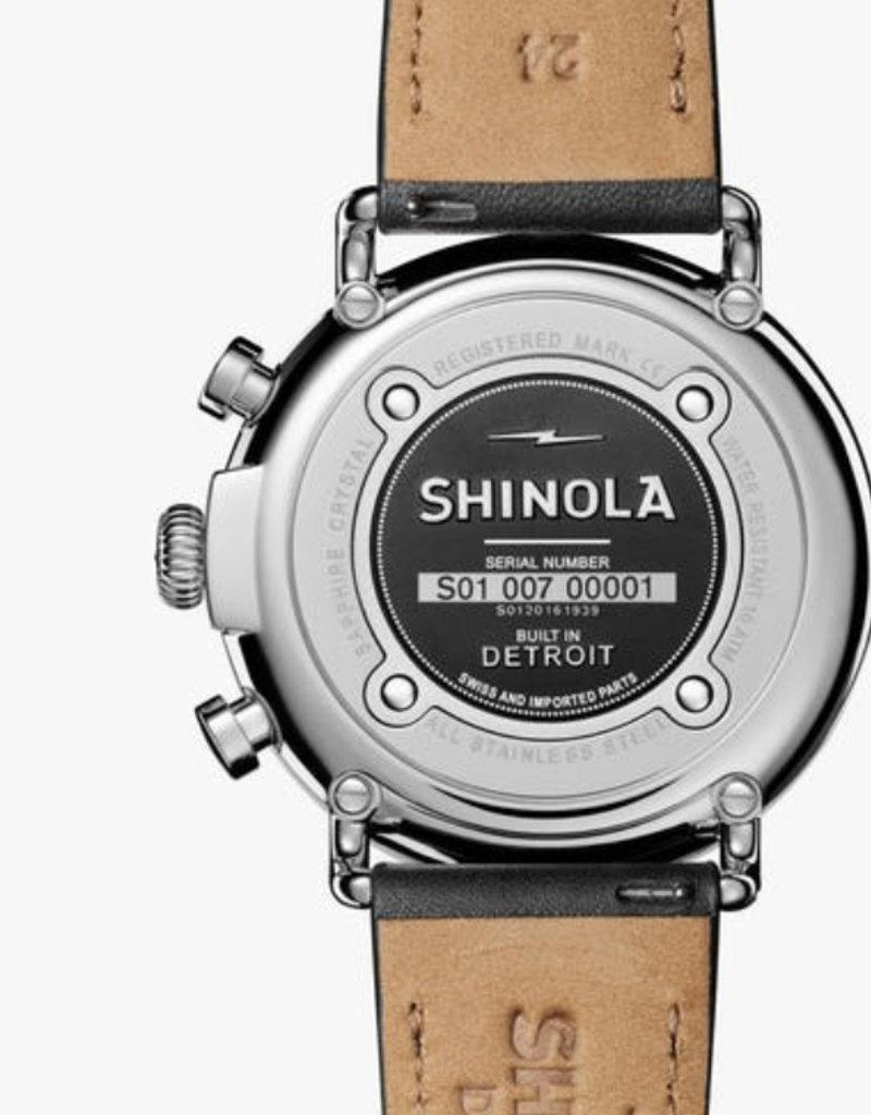 Shinola Shinola   Runwell Chrono 47mm Black/Cream
