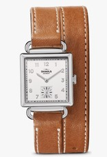 Shinola Cass 28x27mm Bourbon/Milky White