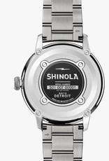 Shinola Bedrock 42mm Silver/Ivory