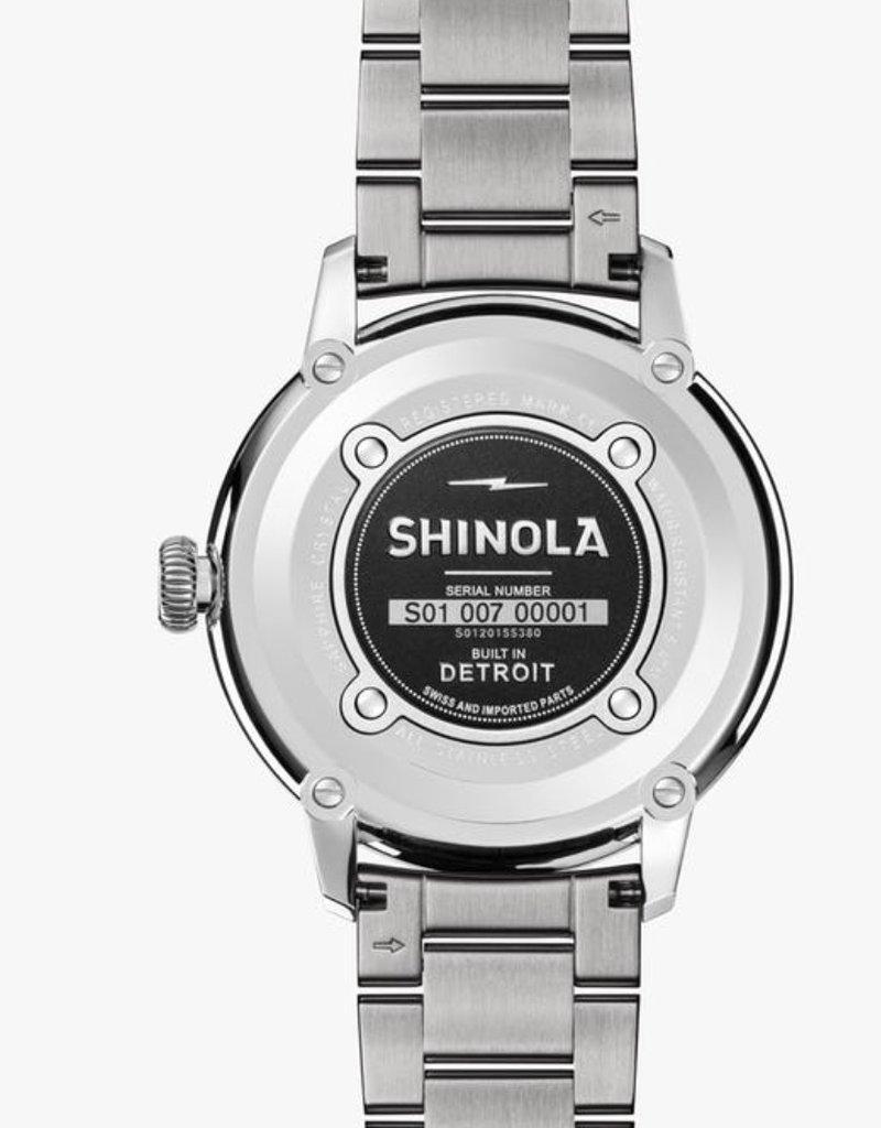 Shinola Shinola Bedrock 42mm Silver/Ivory