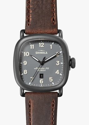 Shinola Guardian 43mm Brown/Gunmetal