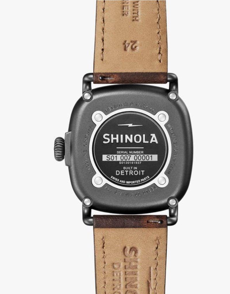 Shinola Guardian 43mm Brown/Gunmetal