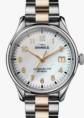Shinola Vinton 38mm Silver/Gold/White
