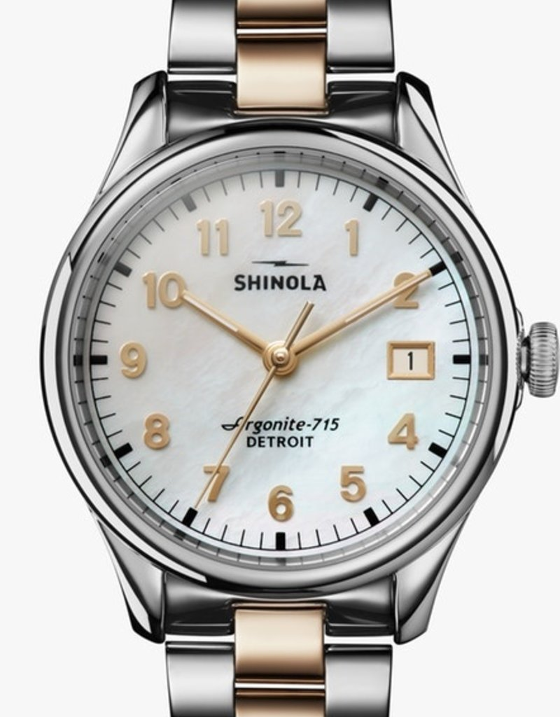 Shinola Vinton 38mm Silver/Gold/White