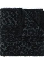 John Varvatos Leopard Intarsia Mohair Leopard Scarf