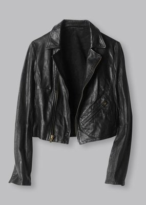 Ladies Billy Reid Leather Classic Moto Jacket