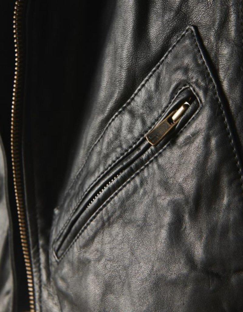Ladies Billy Reid Leather Classic Moto Jacket