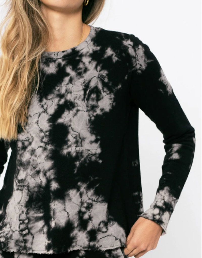 Sol Angeles Marble Crop Pullover