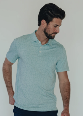 Normal Brand Normal Brand Active Geo Print Polo