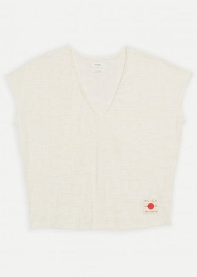 Ladies Billy Reid Blocked Boucle Tee