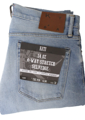 Kato KATO' The Pen Slim 14 oz. 4 Way Stretch Selvedge Denim