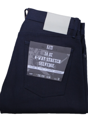 Kato KATO' The Pen Slim Lenny 14oz. 4 Way Stretch Selvedge Jean