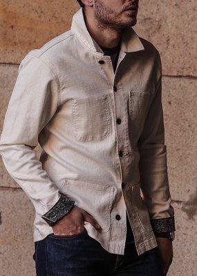 Kato KATO' The Vise Ivory Panama Stretch Chore Jacket