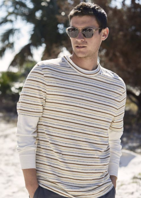 Billy Reid Billy Reid Short Sleeve Striped Tee