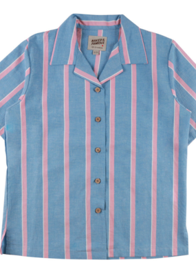 Ladies Naked & Famous Stripe Camp Shirt