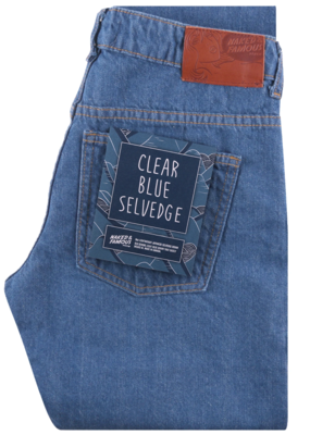 Naked & Famous Boyfriend Clear Blue Selvedge Jean