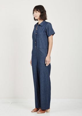 Naked & Famous Jumpsuit 7oz Dark Denim