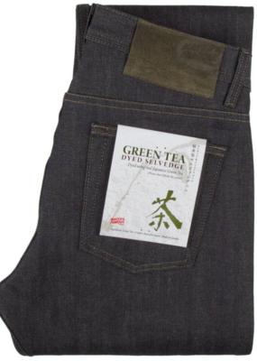 Naked & Famous Naked & Famous Super Guy Green Tea Selvedge Jean