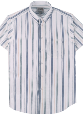Naked & Famous Naked & Famous Easy Shirt Boucle Stripe