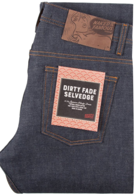 Naked & Famous Naked & Famous Super Guy Dirty Fade Selvedge Jean