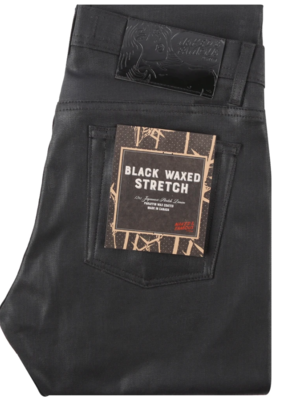 Naked & Famous Naked & Famous Weird Guy Black Waxed Stretch Jean