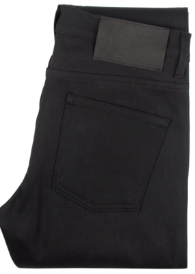 Naked & Famous Naked & Famous Weird Guy Black Solid Selvedge Jean