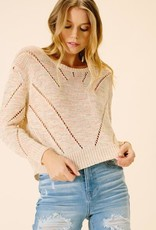 ELLOR Ellor Grace Cropped Sweater
