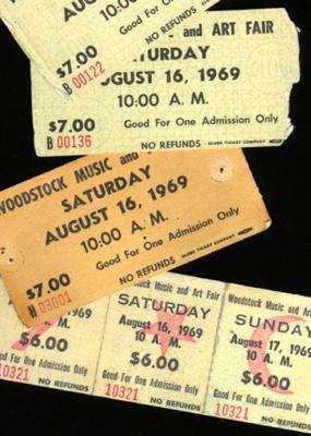 Retro Brand Retro Brand Woodstock Ticket Unisex Tee