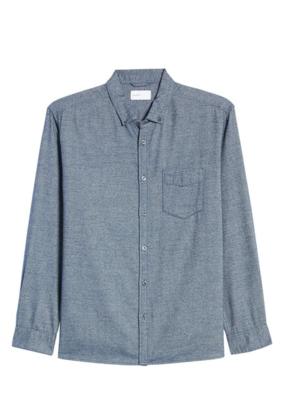 Baldwin BLDWN Hansen Regular Fit Button-Down Flannel Shirt