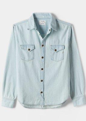 Billy Reid Billy Reid Bleach Denim Slim Shirt