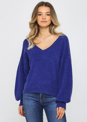 Charli April Deep V Sweater