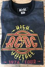 Retro Brand Retro Brand AC/DC Deconstructed Long Sleeve Crew