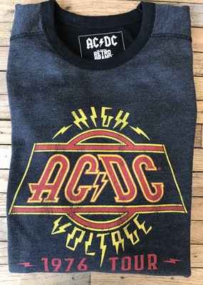 Retro Brand Retro Brand AC/DC Deconstructed Long Sleeve Crew