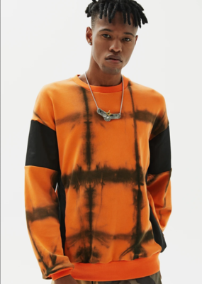 Alpha Style Alpha Style Crane Check Dye Sweatshirt