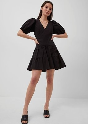 French Connection French Birch Poplin Puff Sleeve Dress