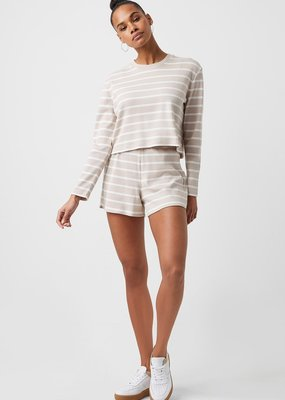 French Connection French Tommy Rib LS Cropped Top