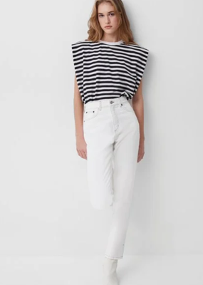 French Connection French Connection Shoulder Pad Stripe Jersey  Top