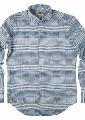 Naked & Famous Striped Windowpane Shirt