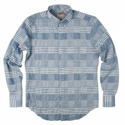 Naked & Famous Striped Windowpane Shirt