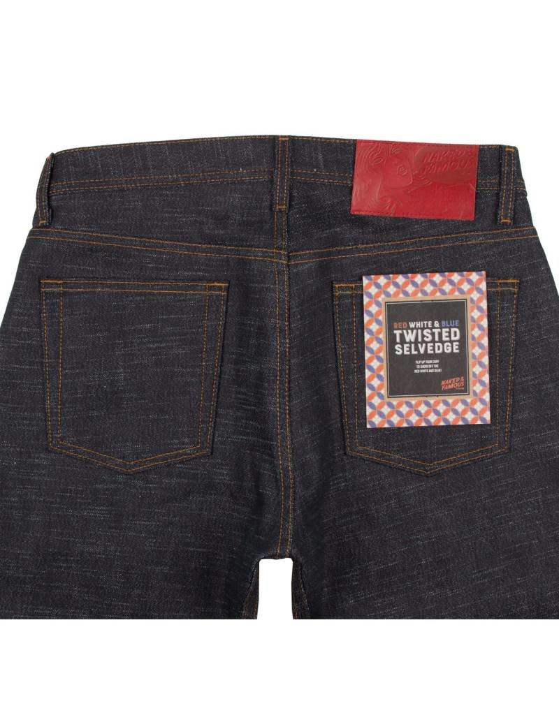 Naked & Famous Naked & Famous Weird Guy Red, White & Blue Twisted Selvedge Jean