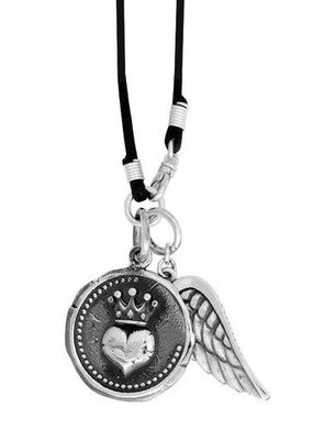 King Baby King Baby Large Heart Coin Necklace