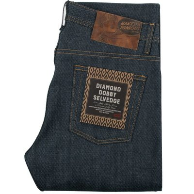 Naked & Famous Weird Guy Dobby Diamond Selvedge