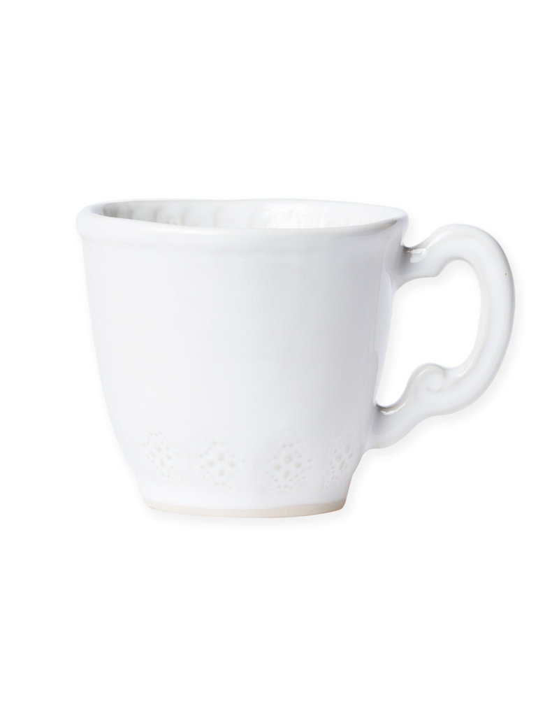 Vietri Incanto Stoneware White Lace Mug
