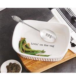 Mudpie Livin' On The Veg Dish Set
