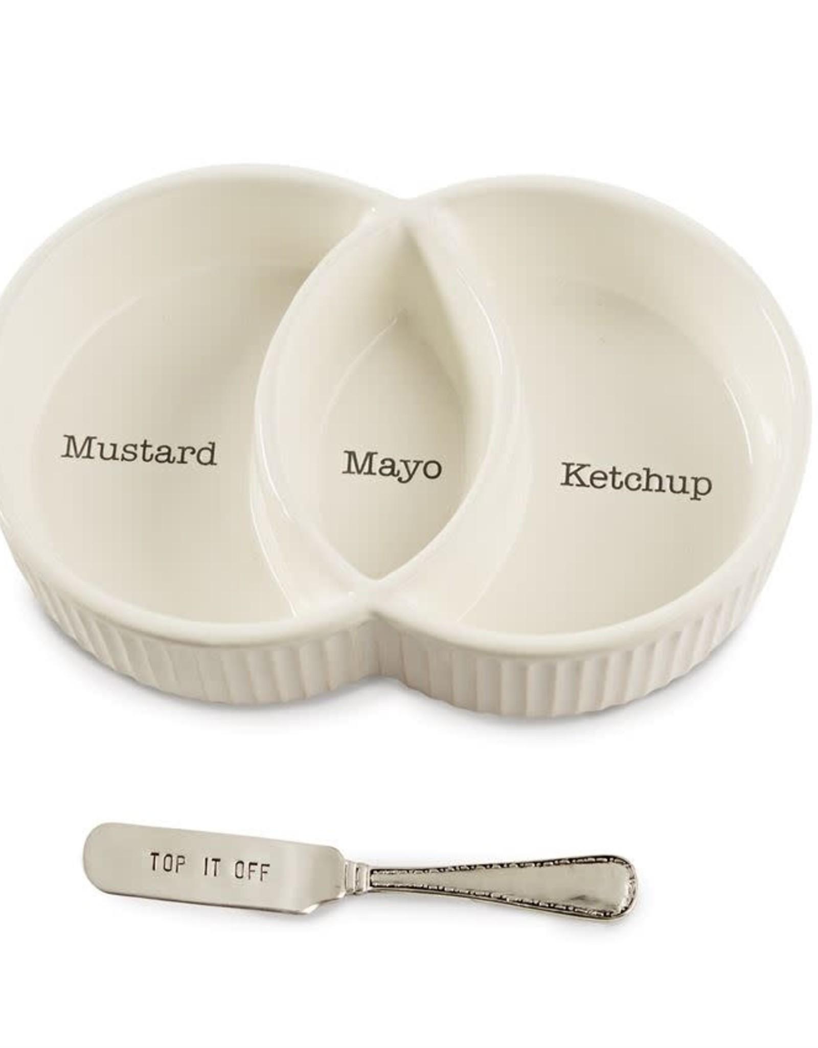 Mudpie Divided Condiment Bowl Set
