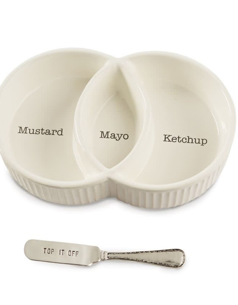 Mudpie Divided Condiment Bowl Set