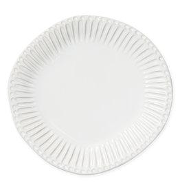Vietri Incanto Stoneware White Stripe Dinner Plate