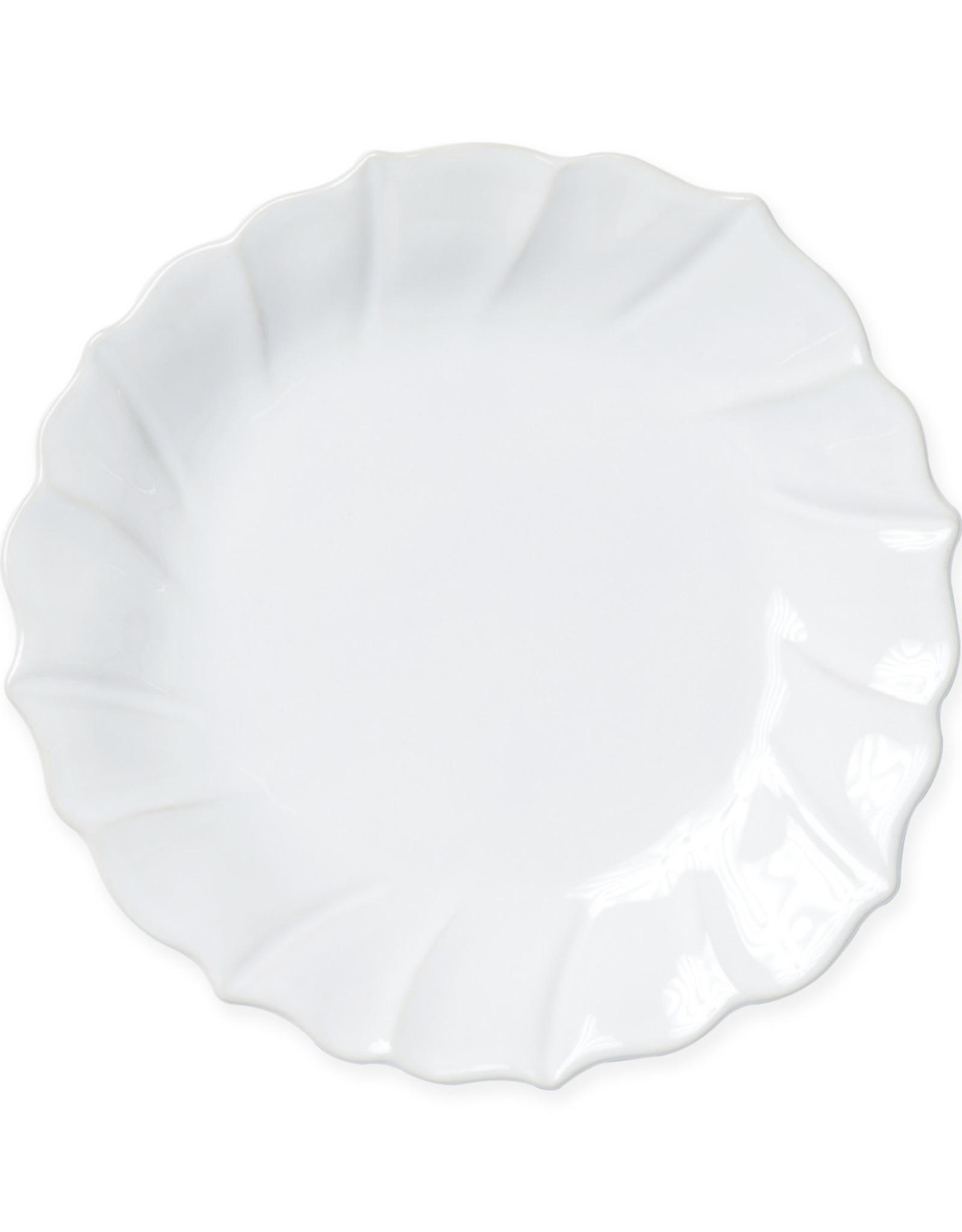 Vietri Incanto Stoneware White Ruffle Salad Plate